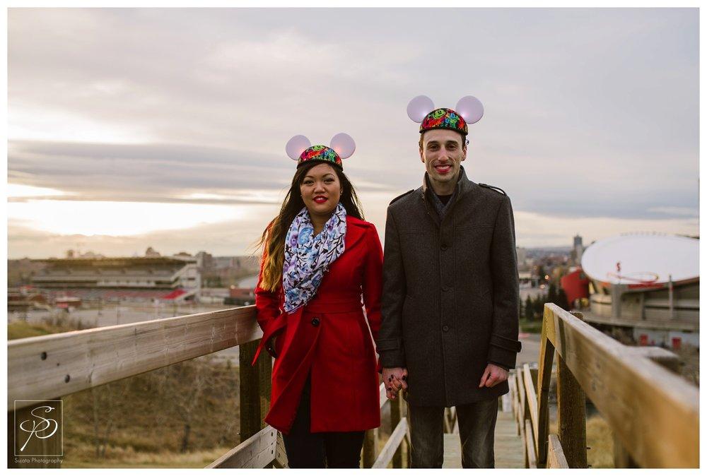 Disney Calgary Engagement Photographer Crystal Sujata
