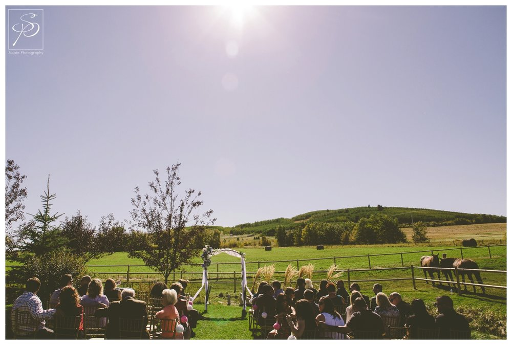 Okotoks Acreage wedding ceremony