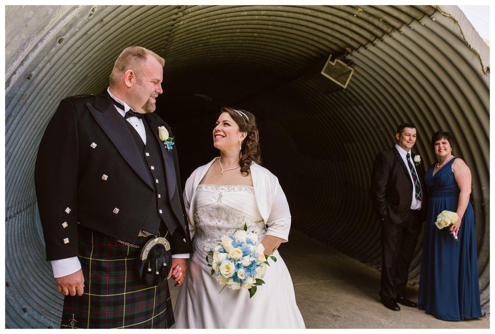 Bridal party photos in Confederation park Calgary