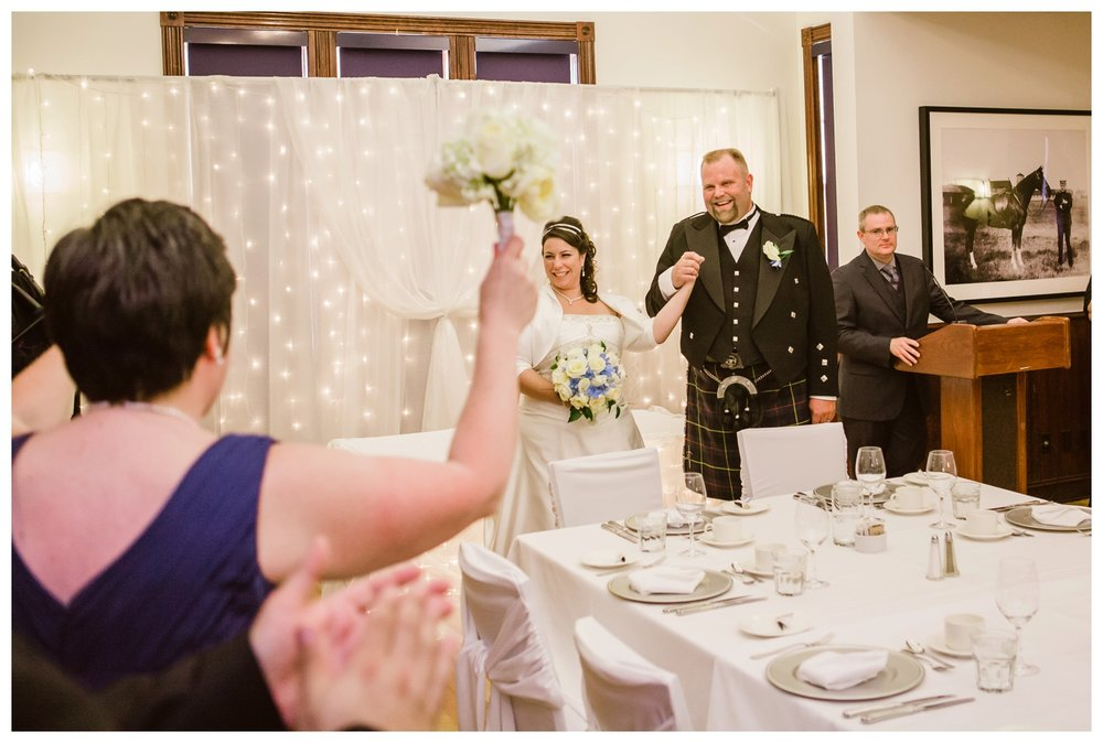 East Coast themed wedding reception at Fort Calgary