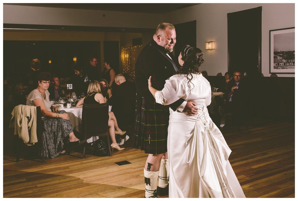 Bride and Groom first dance at Fort Calgary