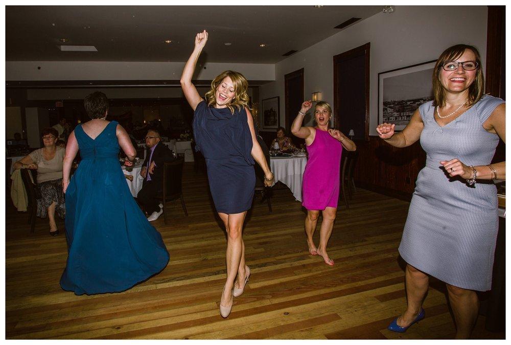 Guests dancing at Fort Calgary wedding reception