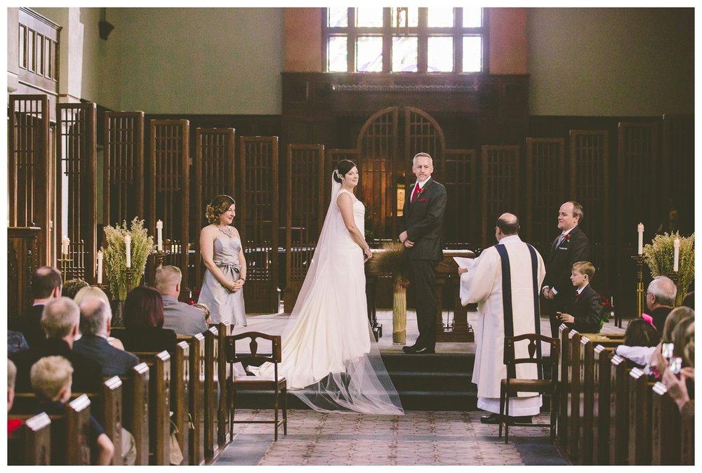 Vows during catholic wedding ceremony