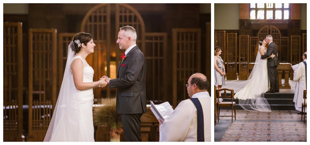 Wedding vows at St. Mary's Cathedral