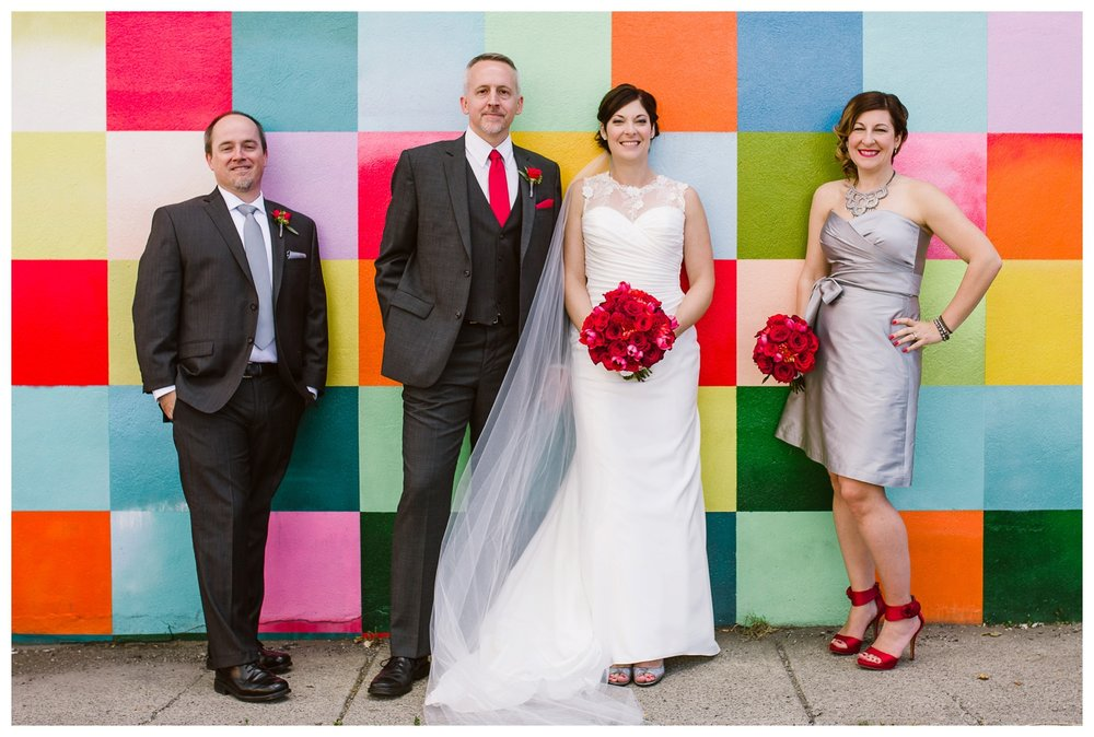 Downtown Calgary Fall bridal party portraits