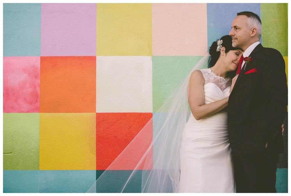 Downtown Calgary Fall bridal portraits