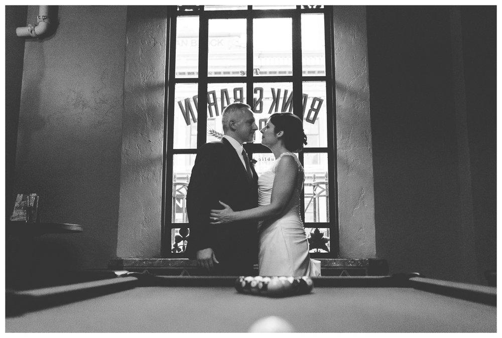 Bride and Groom at Bank and Baron Pub