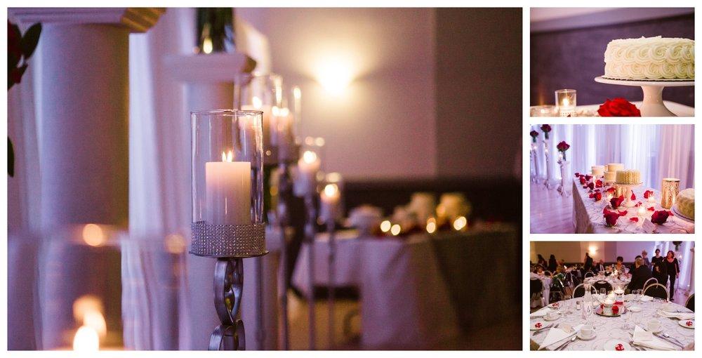 Community centre wedding reception decor