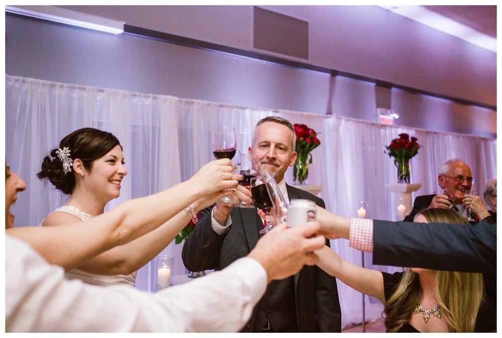 Wedding toasts at Calgary wedding reception