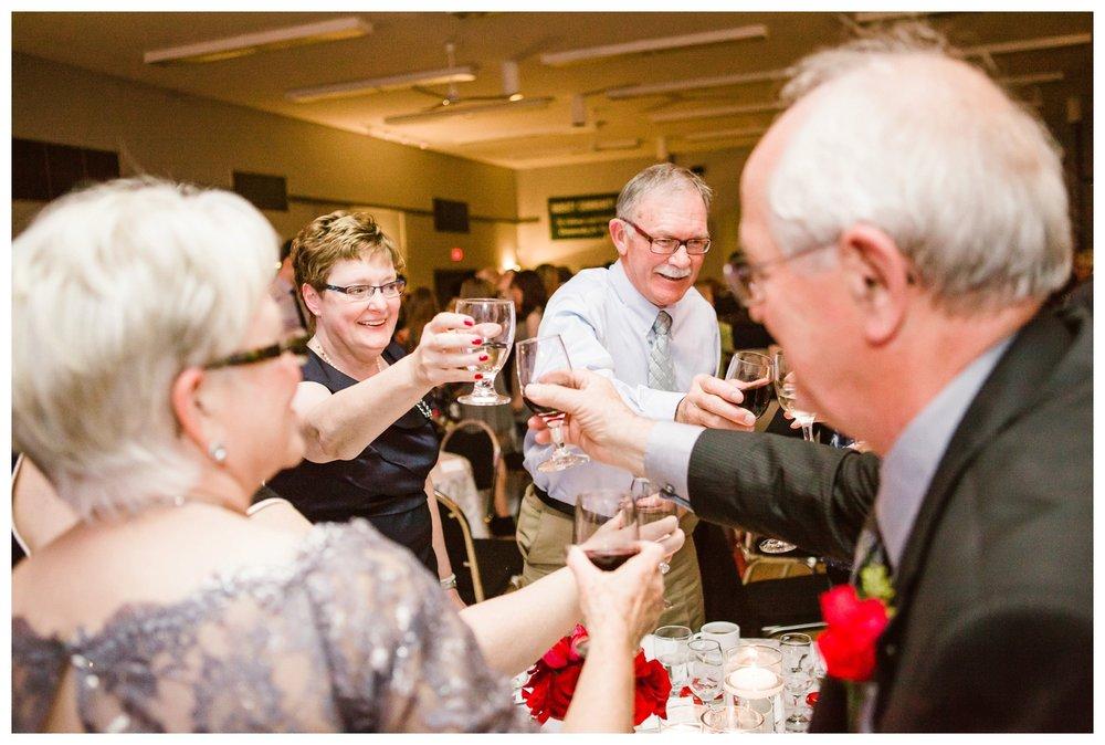 Toasts at Calgary Wedding reception