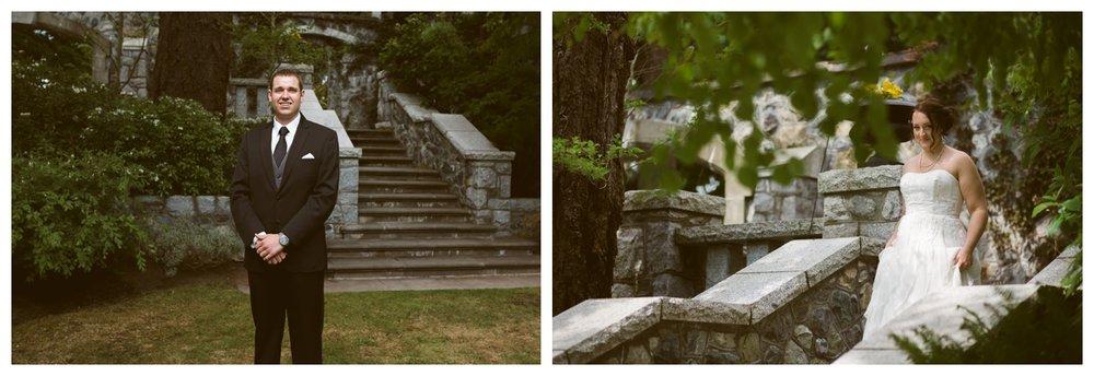 Outdoor Garden wedding at English Inn Vancouver Island