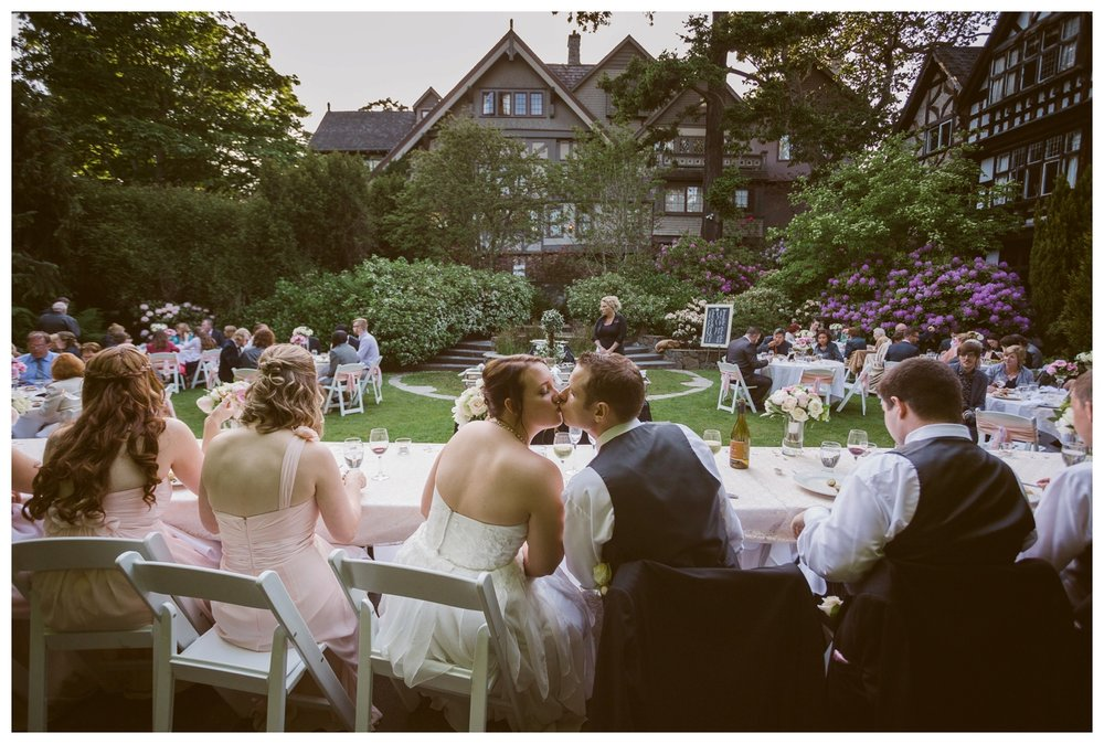 Outdoor Garden wedding at The English Inn Victoria