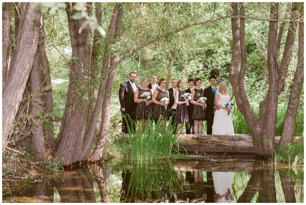 Calgary zoo wedding bridal party