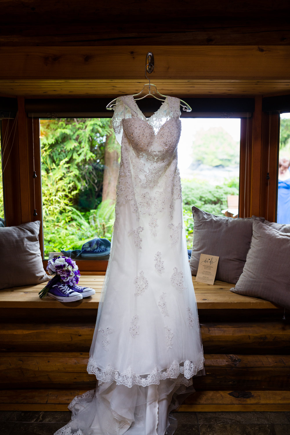 wedding dress cabin