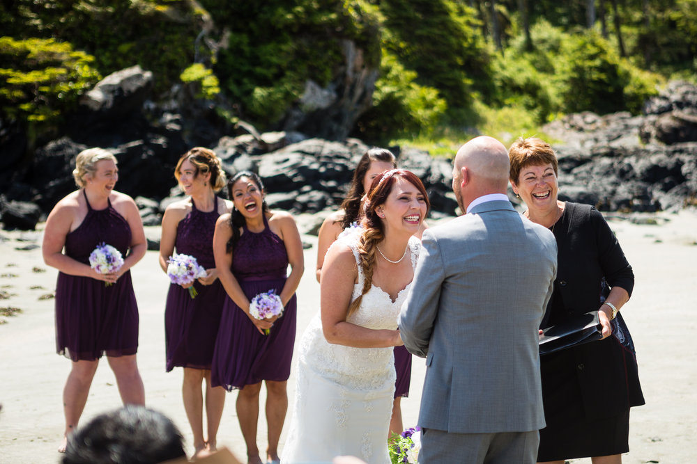 Mackenzie Beach wedding ceremony