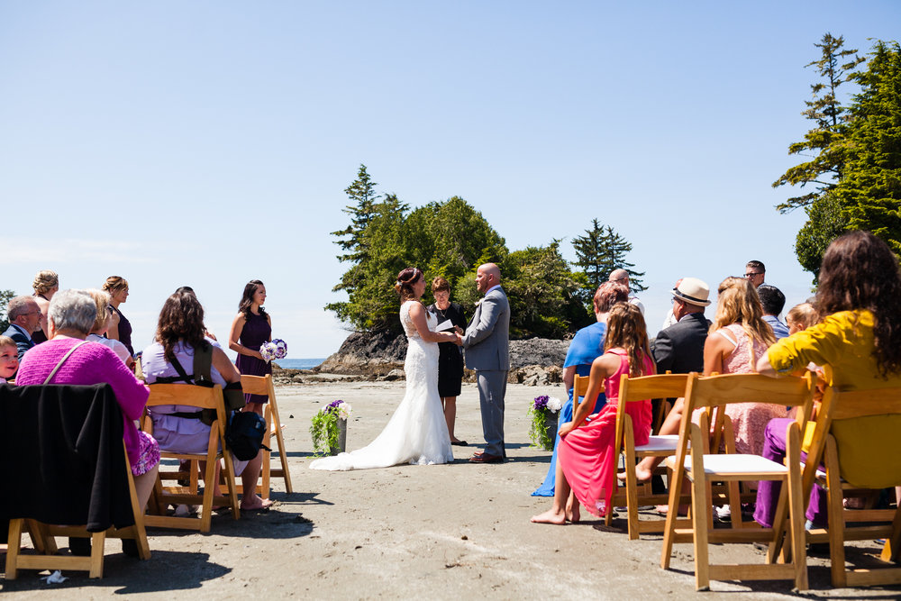 tofino beach resort wedding ceremony