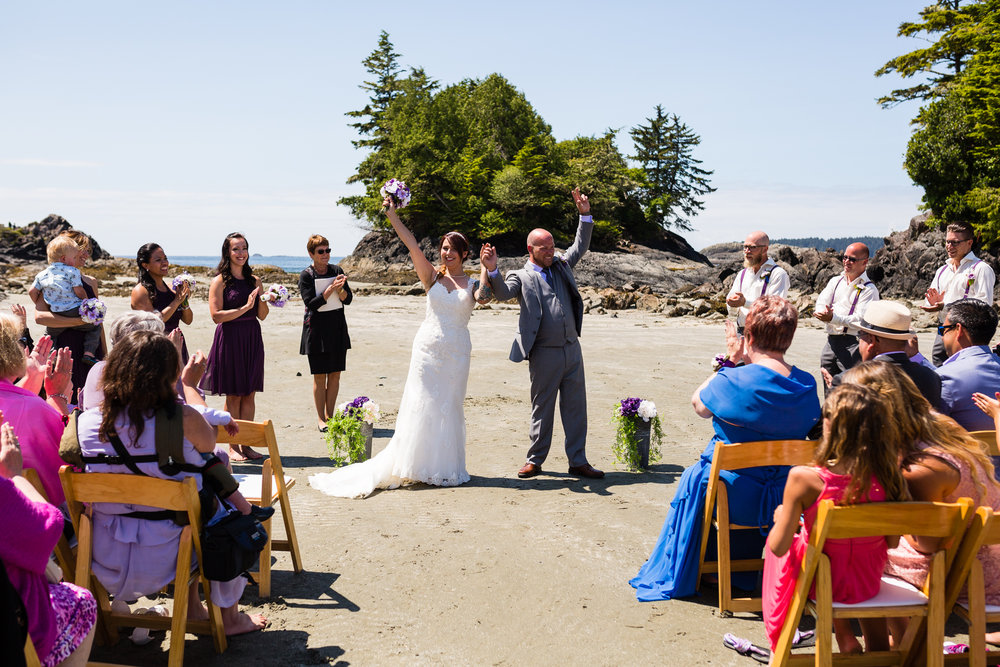 Crystal Cove beach wedding tofino