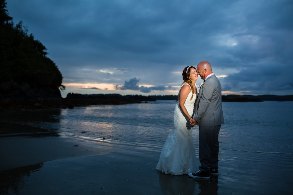 mackenzie beach sunset wedding photos
