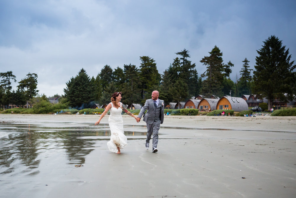 mackenzie beach tofino wedding