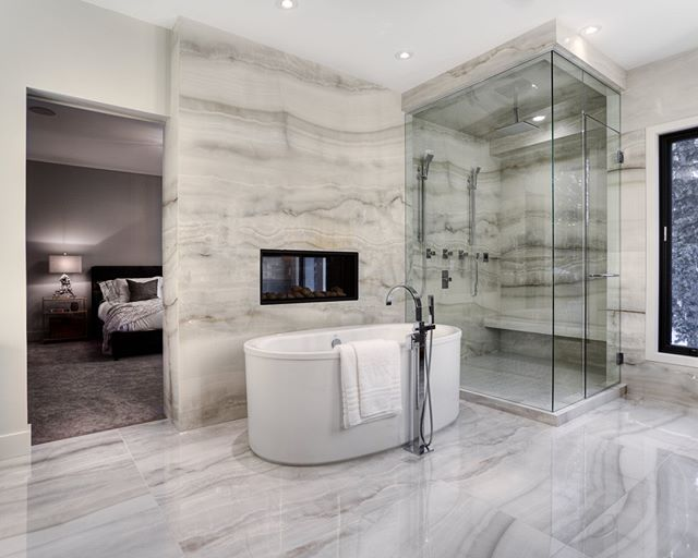 Who wants floor to ceiling marble in their ensuite?⁣ .⁣ .⁣ #marble  #homedecor #architecture #realestate #luxuryhomes #interiorphotography #interiorinspiration #yycnow #calgarylife #yycstyle #captureyyc #yycre #yycrealtor #calgaryhomes #calgaryrealestate #realestatemarketing #yycmarketing #yycrealestate