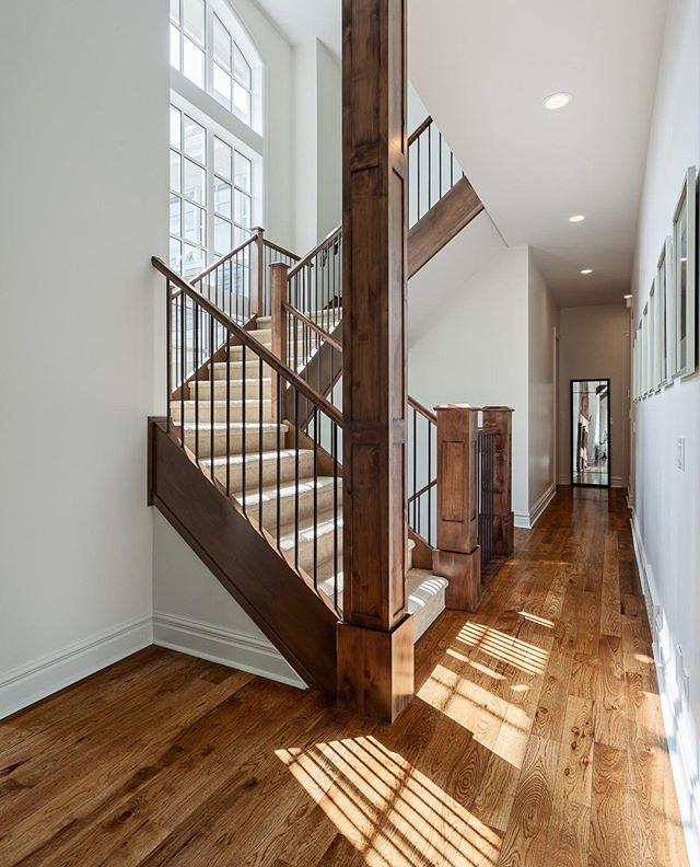 The light in this big open stairwell was so beautiful!⁣ ⁣ Home by @verandainteriors⁣ .⁣ .⁣ #interiorphotography #interiors #architecture #interiorinspiration #architecturelovers #homedesign #dreamhome #interiorstyling #realestate #interiorarchitecture #yycdesign #calgaryhomes #homeinspiration #homesofyyc #yychomes #yyc #estatehome  #luxuryhomes #yycphotographer