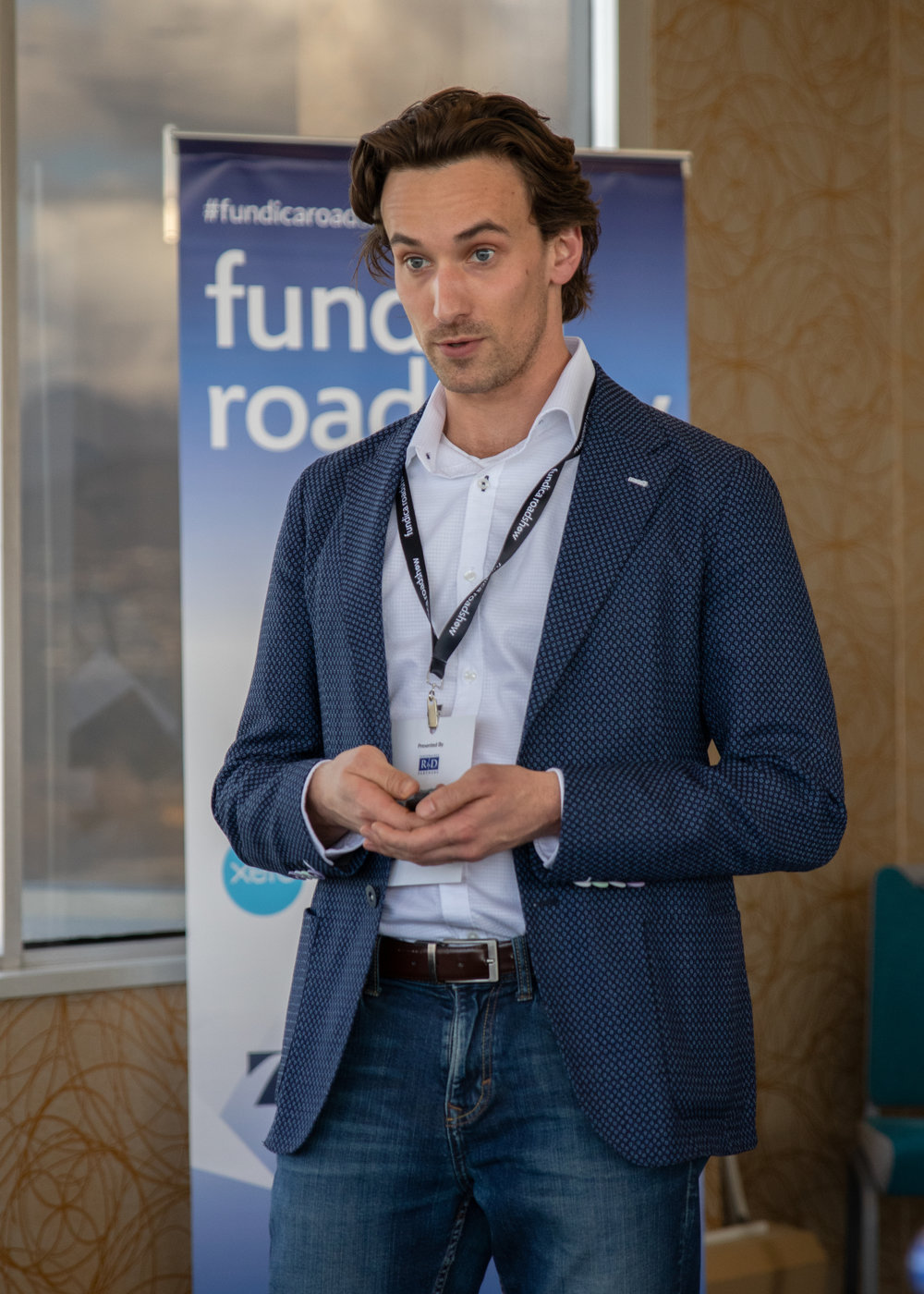 Pierre Wijdenes pitching Neuraura to a panel of investors at the 2019 Fundica Roadshow.