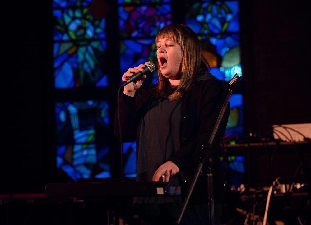 Photo by Kevin Jones.  Laura Swankey at the Music Gallery, Toronto. April 7th 2017.