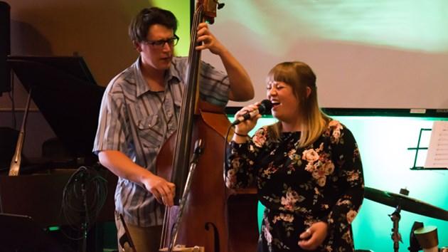 Andrew Furlong and Laura Swankey at Sudbury Jazz Festival. September 2016.