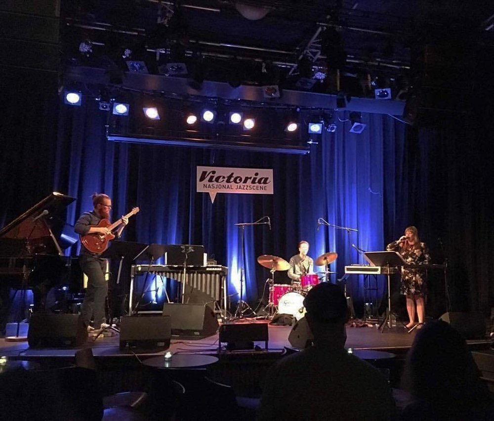 Proxemics (Mike McCormick, Knut Kvifte Nesheim, Laura Swankey) at Victoria Nasjonal Jazzscene. Oslo, Norway. June 2017