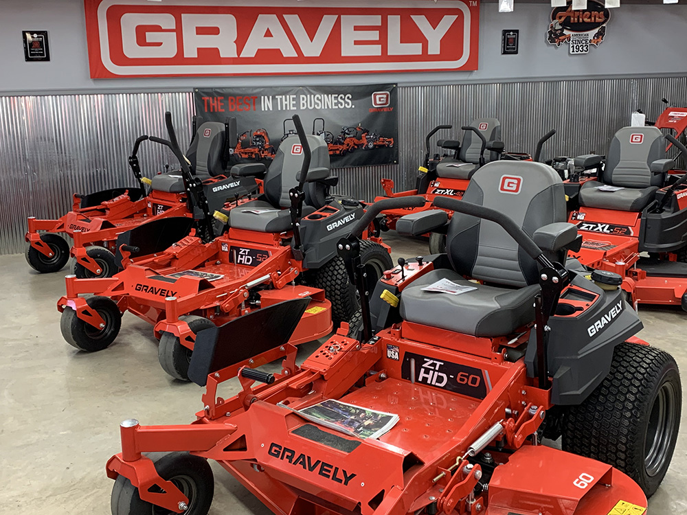 Gravely Mowers in Inventory