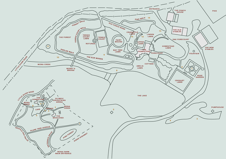 Mona Farm Contemporary Art Sculpture Garden Map