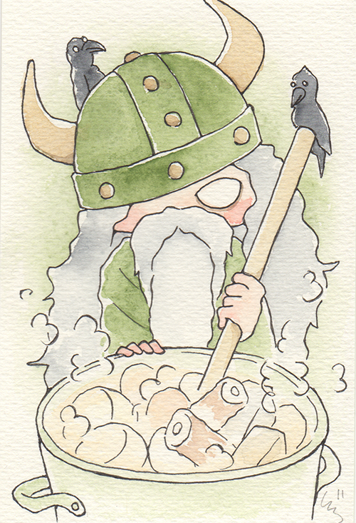 """Odin's Oden  The words given to me were """"Olive Green"""" and """"Oden.""""  2017"""