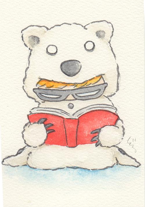 """Polar Bear Boy  The words given to me were """"Polar Bear"""" and """"Reading.""""  2017"""