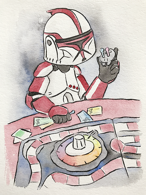 """Trooper Plays  The words given to me were """"Clone Troopers"""" and """"Life.""""  November 2017"""