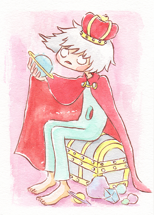 """Pastel King  The words given to me were """"Pastel Colors,"""" """"Red,"""" and """"King.""""  May 2018"""