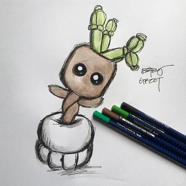⠀⠀⠀⠀⠀⠀⠀⠀⠀⠀⠀⠀⠀ So. Excited. To. Build. Baby. Groot. 💚 ⠀⠀⠀⠀⠀⠀⠀⠀⠀⠀⠀⠀⠀ If I had to pick a balloon for me, this is EXACTLY what I would want 😭 haha ⠀⠀⠀⠀⠀⠀⠀⠀⠀⠀⠀⠀⠀ This is a quick sketch of Jackie's (from with a twist balloons) crazy cute design of #BabyGroot with a modified face! I may also dabble around with the base a wee bit! Stay tuned!⠀⠀⠀⠀⠀⠀⠀⠀⠀⠀⠀⠀⠀ ____ balloonworkz.com
