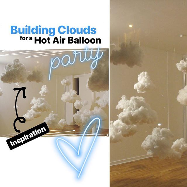 "⠀⠀⠀⠀⠀⠀⠀⠀⠀⠀⠀⠀⠀ One of my lovely clients is having a Hot Air Balloon party for her little girl! She had requested ""balloon clouds"" but I felt like this hyper-realistic cloud installation would really make her guests feel like they're way up in the clouds! They also make an excellent night light for the nursery if you add LEDs! I added some colorful thunder just for mini preview! 🌈 ⠀⠀⠀⠀⠀⠀⠀⠀⠀⠀⠀⠀⠀ There will be a total of 10-12 clouds varying in size and shape 😊  #ArtInstallation  #ArtIsSoCool #DIY #Design #Designer ⠀⠀⠀⠀⠀⠀⠀⠀⠀⠀⠀ ___ balloonworkz.com"