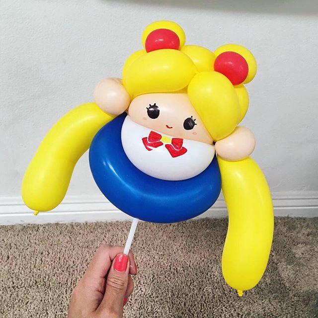 "⠀⠀⠀⠀⠀⠀⠀⠀⠀⠀⠀⠀⠀⠀ ""Mini"" Sailor Moon 🌙 ⠀⠀⠀⠀⠀⠀⠀⠀⠀⠀⠀⠀⠀⠀ ____ balloonworkz.com"