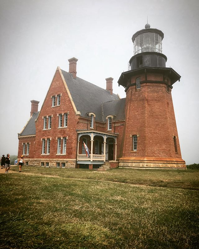 Swipe ➡️ to see what we look like standing in front of the Block Island Southeast Light