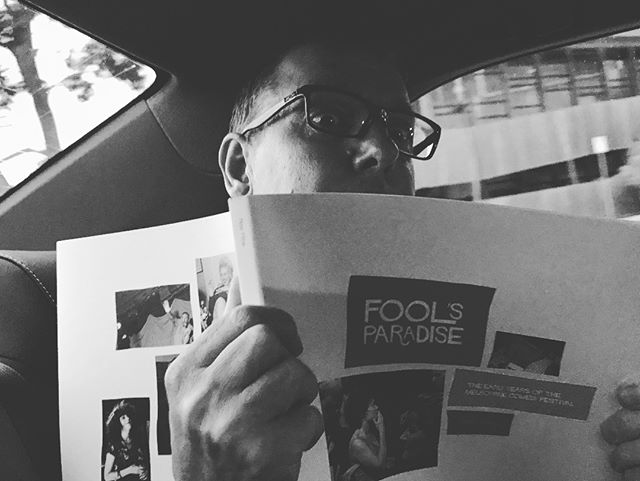 Fresh off the press! In the car with Peter Milne picking up the copies of his latest book, Fool's Paradise, from @m.33_melbourne. I'm lucky to have the first signed copy 🍾✍️🙏 Launching for real on Saturday 3rd of March at 3-5pm at the Atheneum! Free drinks! All welcome!!!