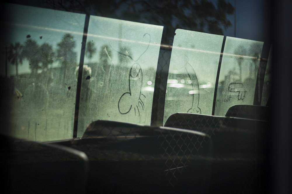 Miners' transport,  Emerald airport, 2011  57x100cm, Pigment print on platine fibre paper   Series Info