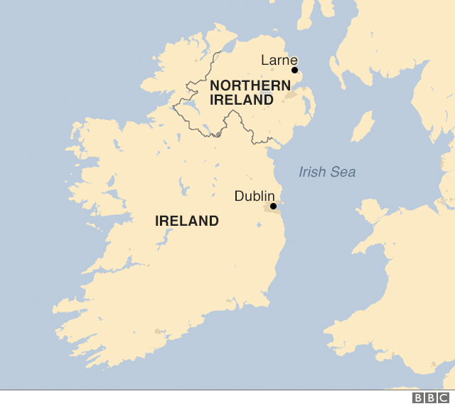 The border between Northern Ireland and the Republic of Ireland.