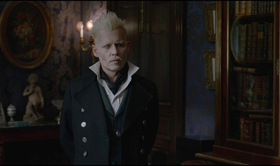 Johnny Depp (yikes) in  Fantastic Beasts