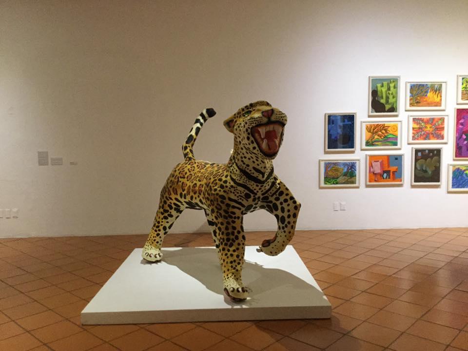 Jaguar, 2018, Paper Maché, dimensions variable