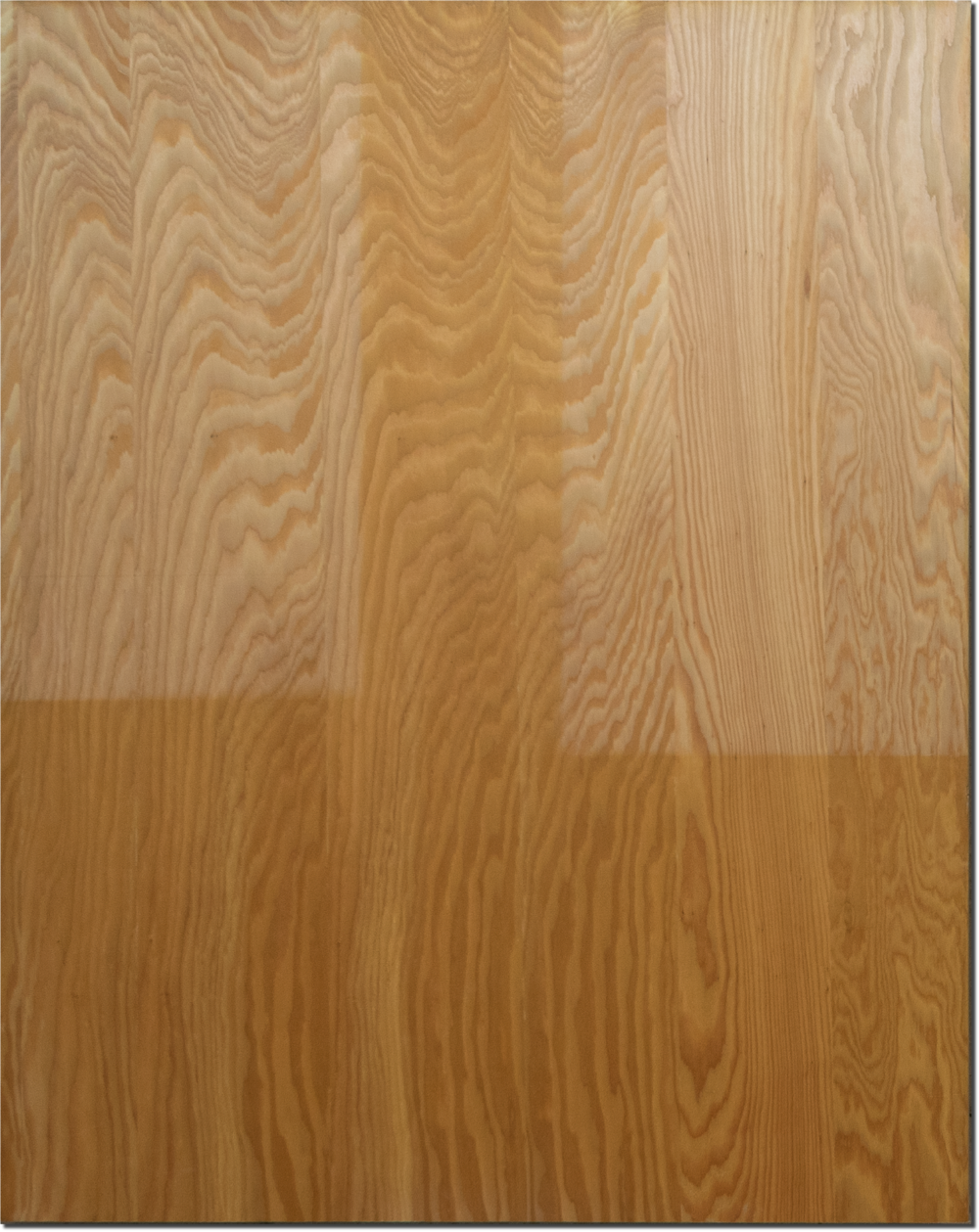 No Time for Time #1, larch wood panel, natural photographic development, 110cm x 140cm