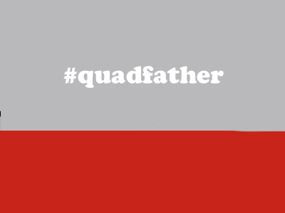 Image of #QUADFATHER (RED CAP / CHERRY QUADFATHER)