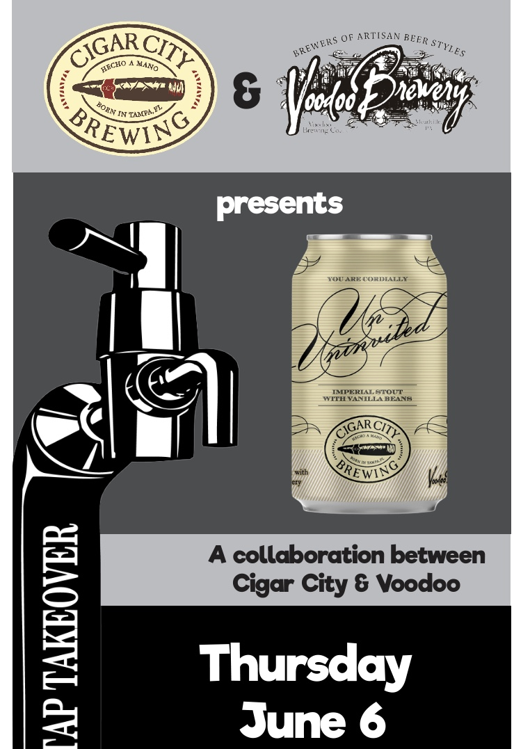 Voodoo Brewery/Cigar City Tap Takeover at Federal Galley! flyer