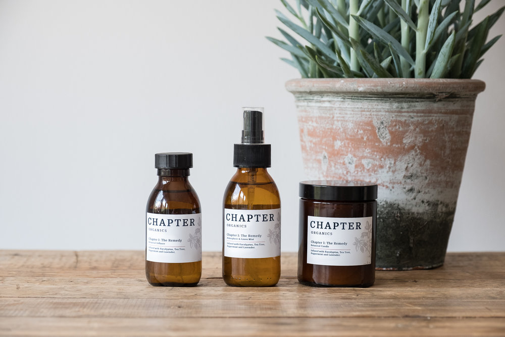Product photography for Chapter Organics
