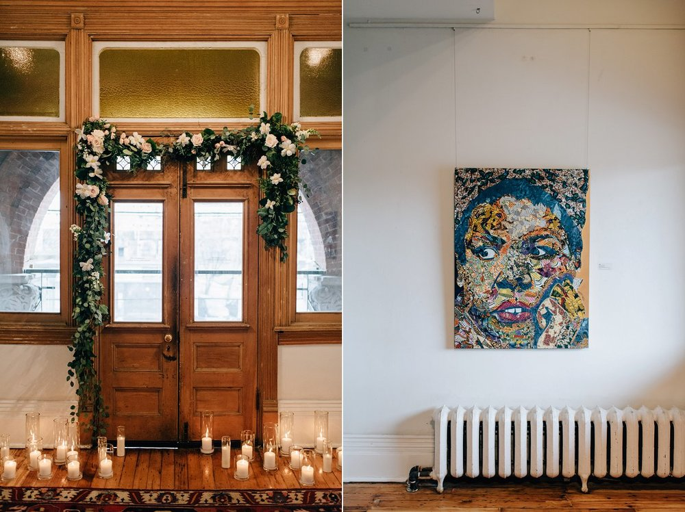 Intimate Gladstone Hotel Wedding in the Art Gallery in Toronto photographed by Sara Monika, Photographer