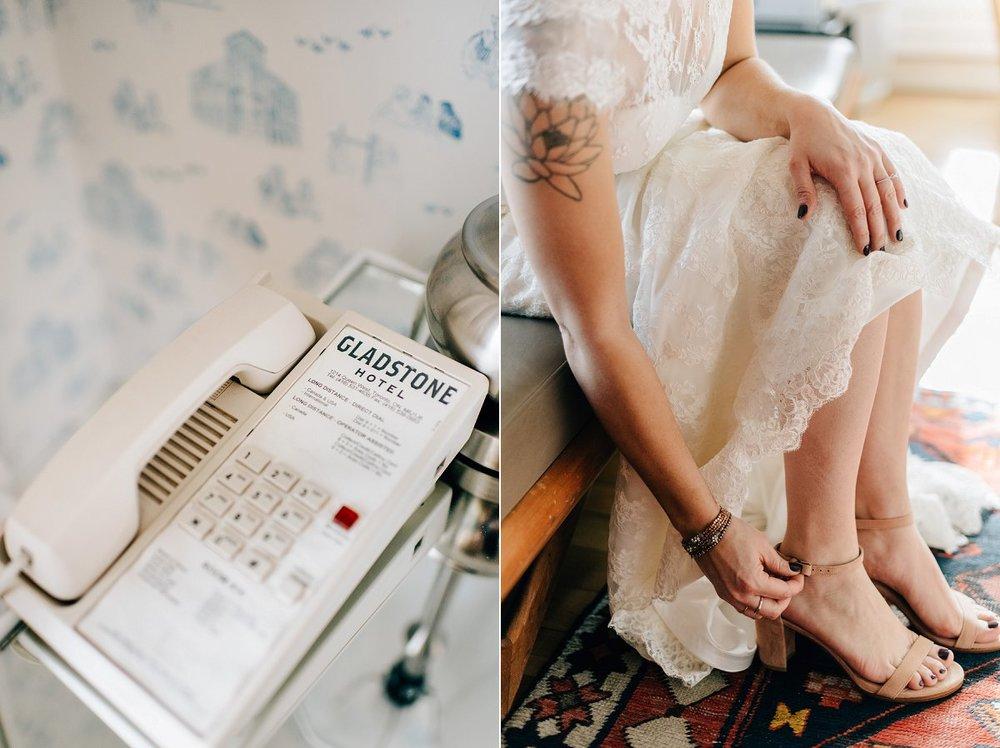 Intimate Gladstone Hotel Wedding in Toronto photographed by Sara Monika, Photographer